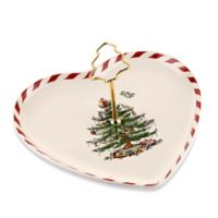 Spode® Christmas Tree Peppermint Heart-Shaped Handled Dish