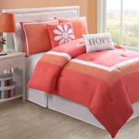 Hotel Juvi Full Comforter Set in Coral