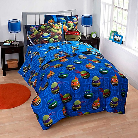 teenage mutant ninja turtles 6-7 piece reversible comforter set