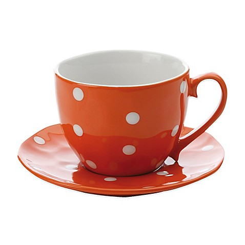 Maxwell u0026 Williams™ Sprinkle Cup and Saucer in Orange  sc 1 st  Bed Bath u0026 Beyond : maxwell and williams sprinkle dinnerware - pezcame.com