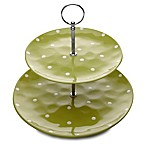 Maxwell & Williams™ Sprinkle 2-Tier Cake Stand in Lime