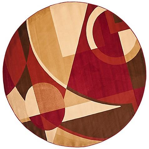 Safavieh Porcello Collection Red Multi Gannon 7 Foot