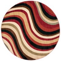 Safavieh Porcello Collection Hamlin Red and Multi 7-Foot Round Rug