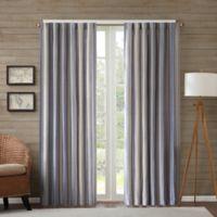 Edgewood Stripe 95-Inch Window Curtain Panel in Navy
