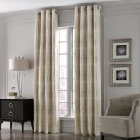 Valeron Lustre Grommet Top 84-Inch Window Curtain Panel in Ivory