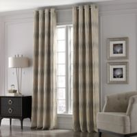 Valeron Lustre Grommet Top 84-Inch Window Curtain Panel in Sand