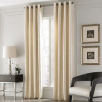 Valeron Lustre Solid 95-Inch Window Curtain Panel in Sand