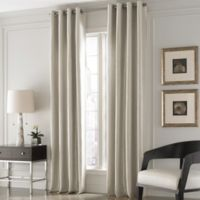 Valeron Lustre Solid 108-Inch Window Curtain Panel in Pearl