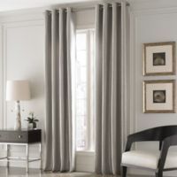 Valeron Lustre Solid 95-Inch Window Curtain Panel in Nickel
