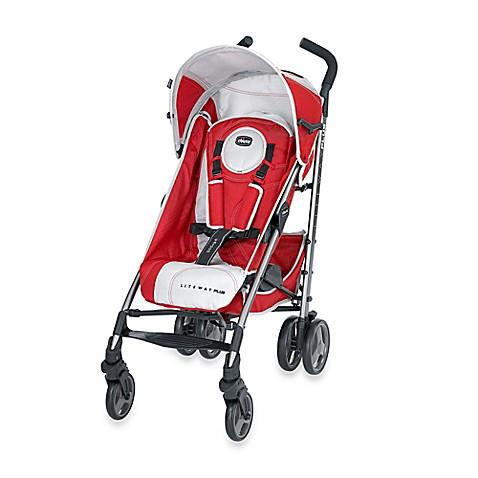 Chicco 174 Liteway Plus Stroller In Red Grey Buybuy Baby