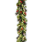 National Tree Company 9-Foot Crestwood Spruce Pre-Lit Garland with Clear Lights