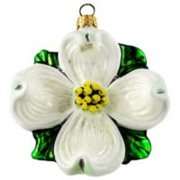 Dogwood Abloom Hanging Ornament in White