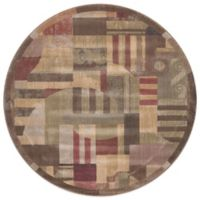 Nourison Somerset 5-Foot 6-Inch Round Rug in Multicolor