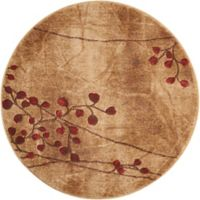 Nourison Somerset 5-Foot 6-Inch Round Rug in Latte