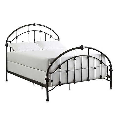 verona home jaime arched metal queen bed frame with caster knots bed bath beyond. Black Bedroom Furniture Sets. Home Design Ideas