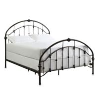 Verona Home Jaime Arched Metal Queen Bed Frame with Caster Knots