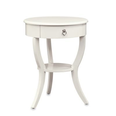 Verona Home Wood Jolene Round Side Table In White