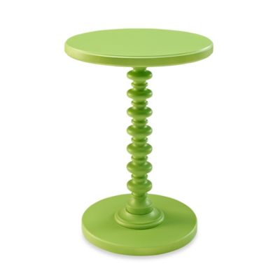 Wonderful Powell Round Spindle Table In Green