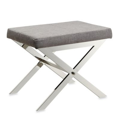 buy grey vanity stool from bed bath & beyond