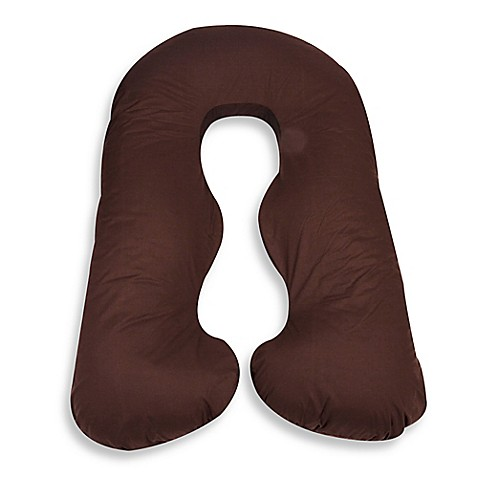 Leachcor back n belly chic replacement cover in brown for Bed bath beyond maternity pillow