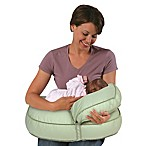 Leachco® Natural Boost Original Adjustable Nursing Pillow Set in Green Pin Dot