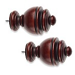 Cambria® Classic Wood Urn Finial in Cherry (Set of 2)