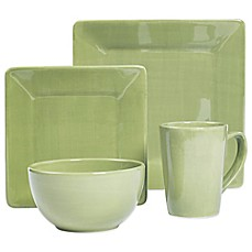 Tabletops Unlimited® Misto Square 4 Piece Place Setting In Green