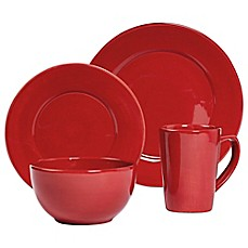 Tabletops Unlimited® Misto 4 Piece Round Place Setting In Red