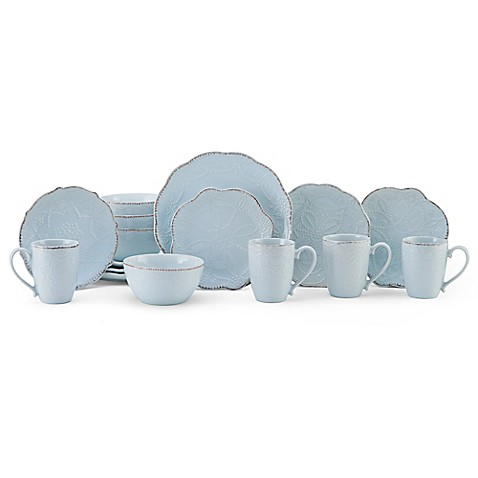 Gourmet Basics by Mikasa® Serena 16-Piece Dinnerware Set in Blue  sc 1 st  Bed Bath u0026 Beyond & Gourmet Basics by Mikasa® Serena 16-Piece Dinnerware Set in Blue ...