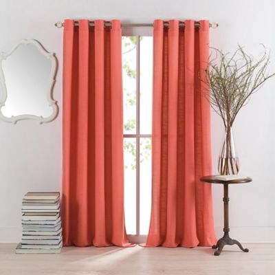 Light gray curtains - Anthology Sienna 84 Inch Window Curtain Panel In Coral