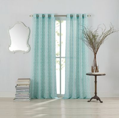 Anthology™ Lucca 108 Inch Grommet Top Window Curtain Panel In Blue