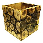 Decorative 9-Inch x 9-Inch Log Storage Box