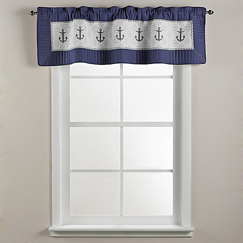 sharp bathroom window coverings | Donna Sharp Sailboat Window Valance - Bed Bath & Beyond