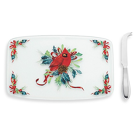 Lenox winter greetings cheese board with knife bed bath beyond lenox winter greetings cheese board with knife m4hsunfo