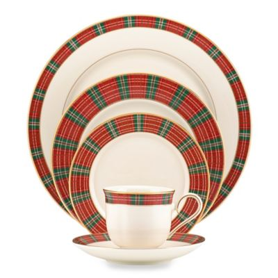 Lenox® Winter Greetings® Plaid 5-Piece Place Setting  sc 1 st  Bed Bath u0026 Beyond & Buy Red Gold China Set from Bed Bath u0026 Beyond