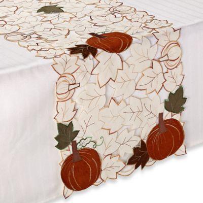sam hedaya pumpkin party 36 inch table runner