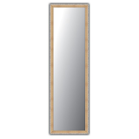 over the door mirror in natural pewter finish bed bath. Black Bedroom Furniture Sets. Home Design Ideas
