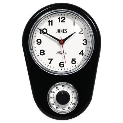 Jones® Clocks Timer Wall Clock In Black