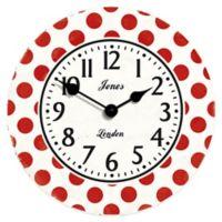 Jones® Clocks Dotty Wall Clock in Red