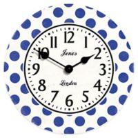 Jones® Clocks Dotty Wall Clock in Blue