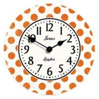 Jones® Clocks Dotty Wall Clock in Orange