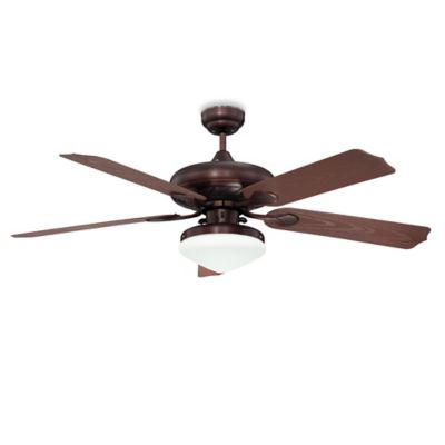 concord fans linden 52inch singlelight ceiling fan in oil