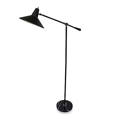 adesso mid century modern adjustable floor lamp bed bath beyond. Black Bedroom Furniture Sets. Home Design Ideas
