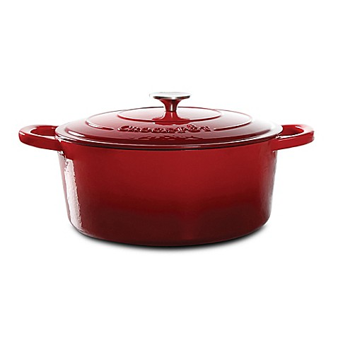 CrockPot® 7Quart Oval Cast Iron Dutch Oven  Bed Bath amp; Beyond