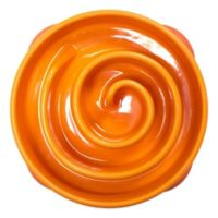 Outward Hound Mini Fun Feeder in Summer Orange
