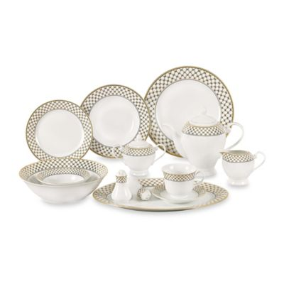 Lorren Home Trends Annabelle 57-Piece Dinnerware Set  sc 1 st  Bed Bath \u0026 Beyond & Buy Lorren Home Trends Dinnerware Sets from Bed Bath \u0026 Beyond