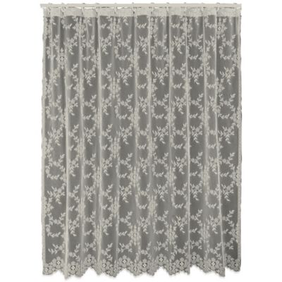 Downton Abbey® Yorkshire Collection Lace Shower Curtain In Flax
