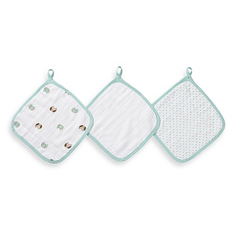 Aden + Anais® 3 Pack Muslin Washcloths