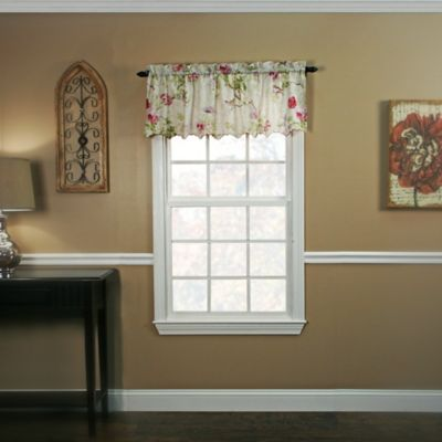 buy lilac window valance from bed bath & beyond