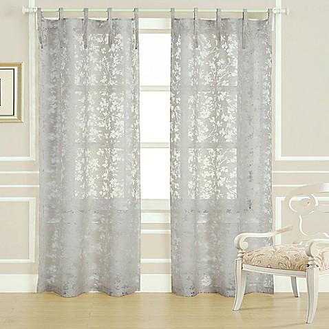 Laura Ashley 174 Rothbury 84 Inch Burnout Window Curtain